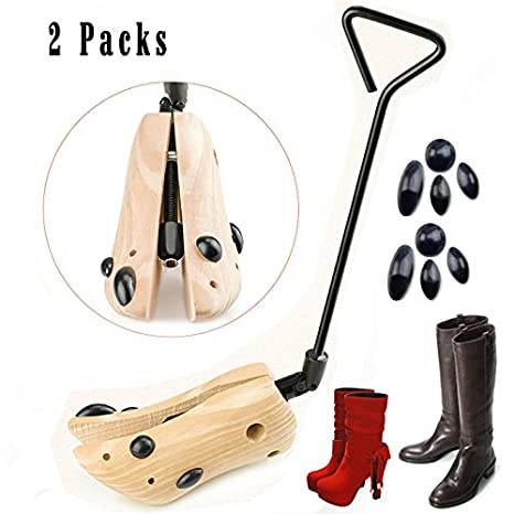 7dbe19ce2e2 Looching Pack of 2 Unisex Boot Stretcher for Cowboy Boots Shoe Trees  Professional One Way Cedar Shoe Stretcher Wooden Shoes Expander Adjustable  Width ...