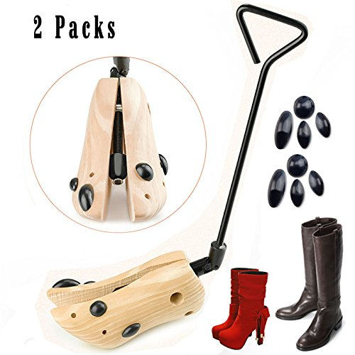 - Looching Pack of 2 Boot Stretcher for Cowboy Boots Unisex Shoe Trees Professional One Way Cedar Shoe Stretcher Wooden Shoes Expander Adjustable Width USA Women Men Medium Size 8-10