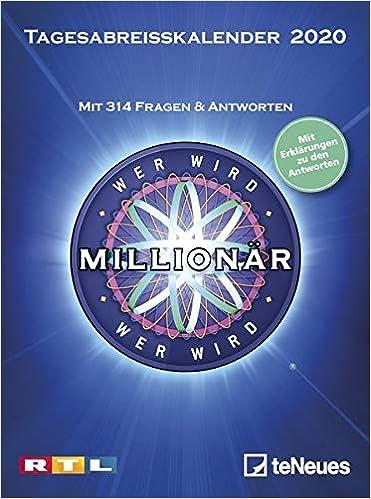 Mit Calendar 2020 Wer wird Millionär 2020 Tagesabreißkalender: Mit 313 Fragen