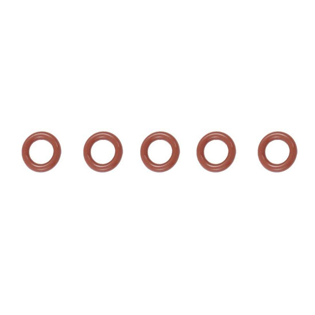 Yevison 50 pcs 12 mm x 2.5 mm x 7 mm Dark Red Silicone O-rings Oil Seal Washers gasketet Durable and Useful by Yevison