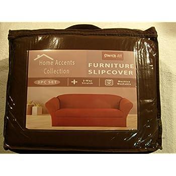 Amazoncom STRETCH FORM FIT 3 Pc Slipcovers Set CouchSofa