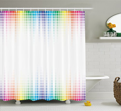 Colorful Curtain Ambesonne Absrtact Bathroom