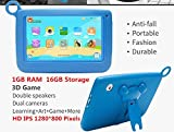 Kids Tablets Android5.1 7 Inch 1280x800 IPS Display 1GB RAM 16GB ROM with Parental Control Software - iWawa Wifi Camera 3D Game HD Video Supported TYD-716 (Blue)