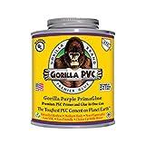 Raven R1585P Gorilla Pvc Cement Medium Body Primaglue, 16 oz, Purple