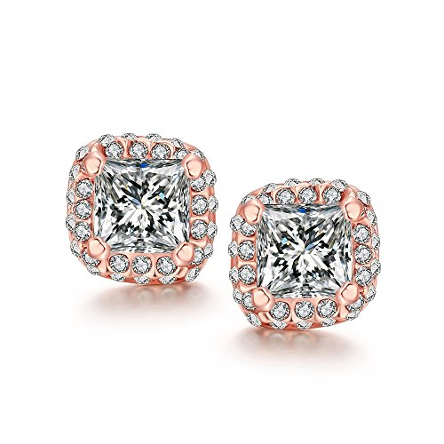 Spark Plug Costume (Leka Neil Platinum or Gold Plated Sterling Silver Earrings Cubic Zirconia Stud Earrings Cultured Pearl Stud Earrings Fashion Jewelry)