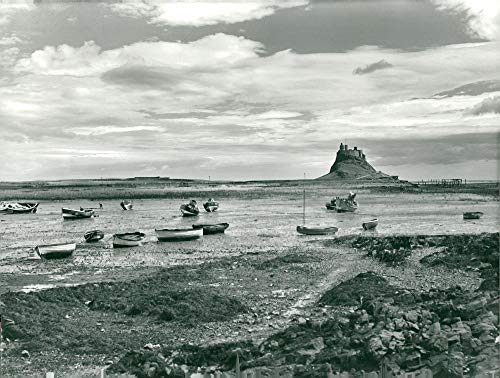 Vintage photo of Lindisfarne Castle