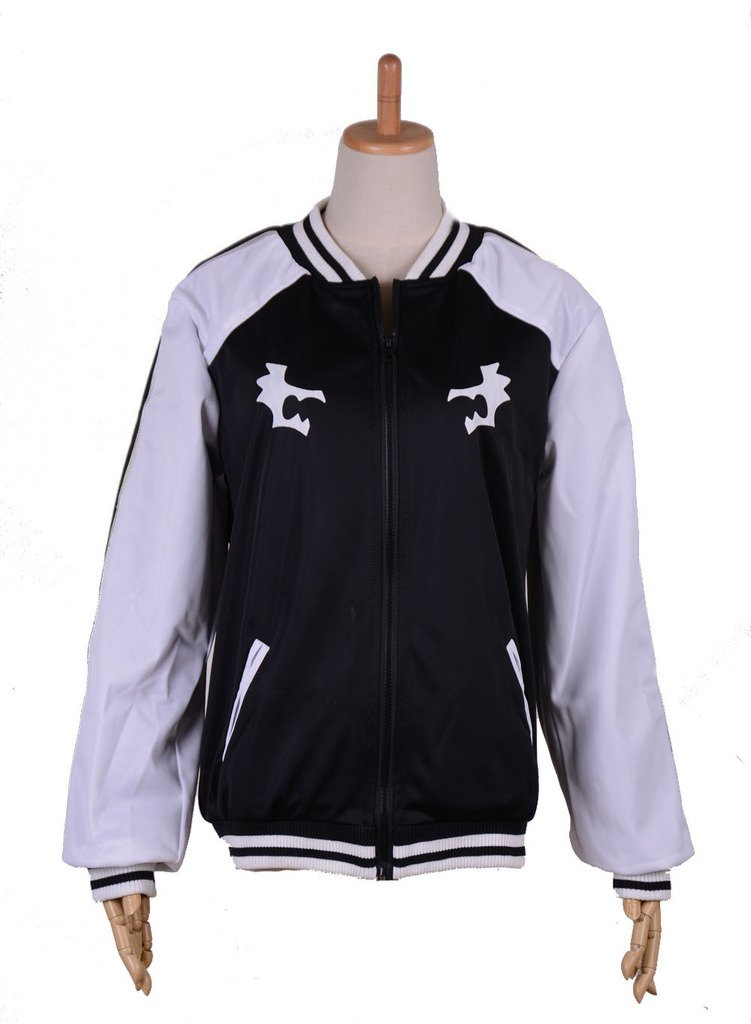 RedCoser Unisex Black Sport Jacket with White Sleeves - S (Female S/Male XS)