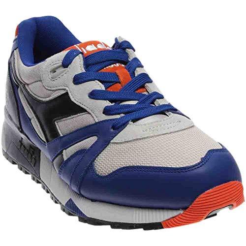 Diadora Men N9000 L-S (blue / orange / wind gray) Size 10.5 US