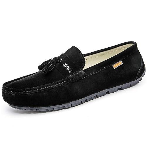 WWJDXZ Zapatos de Corte bajo para Hombre Classic Original Suede Leather Penny Loafers Zapatos de Corte bajo Comfort Zapatillas de conducción Zapatillas sin ...