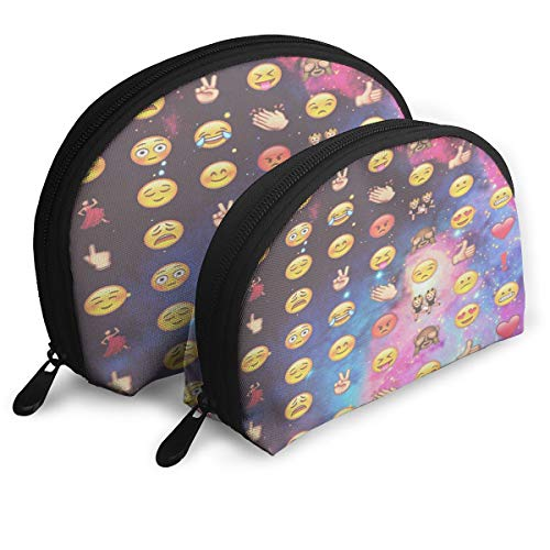 Makeup Bag Emojis On Pinterest Portable Shell Storage Bag For Mother Halloween Gift 2 Pack ()
