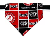 Over the Collar, Reversible Dog Bandana, University of Alabama, Bell Art Designs, Small, DCS0061
