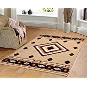 Furnish my Place Southwest Southwestern Modern Area Rug, Rustic Lodge Burber 640