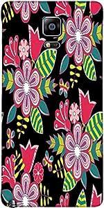 Snoogg Abstracto Floral Fondo Del Diseñador Funda Protectora De La Contraport...
