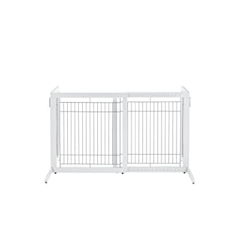 Richell High Freestanding Pet Gate Standard Origami White Amazon