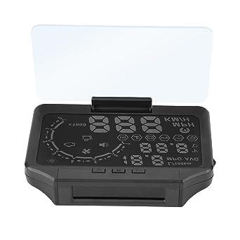 3 IN 1 HUD/&TPMS Head Up Display Tire Pressure Monitor Sensor OBDII Speed Warning