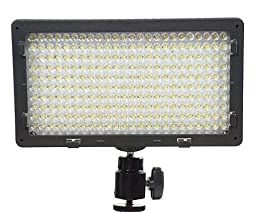 JRFOTO Professional 240 LED Panel Bi Color With Color Temperature Switch 3200K-5400K And Brightness Dimmer Switch By JRFOTO CN240