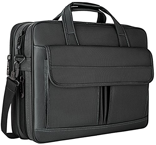 Taygeer Laptop Bag 15.6 Inch,Water Resistant Briefcase, 15inch Expandable Messenger Shoulder Bag with Strap, Carry On Handle Case for Computer/Notebook/Macbook for Business Men/Women, Black