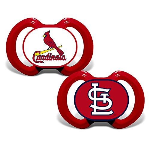 - Baby Fanatic MLB St. Louis Cardinals Unisex Pacifiers2 Pack, Team Colors, One Size