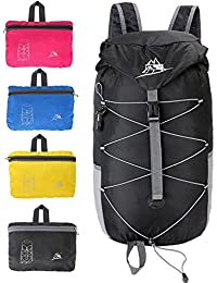 Travel Backpack,35L Lightweight Foldable Hiking Backpack,Packable Daypack Waterproof For Men Women