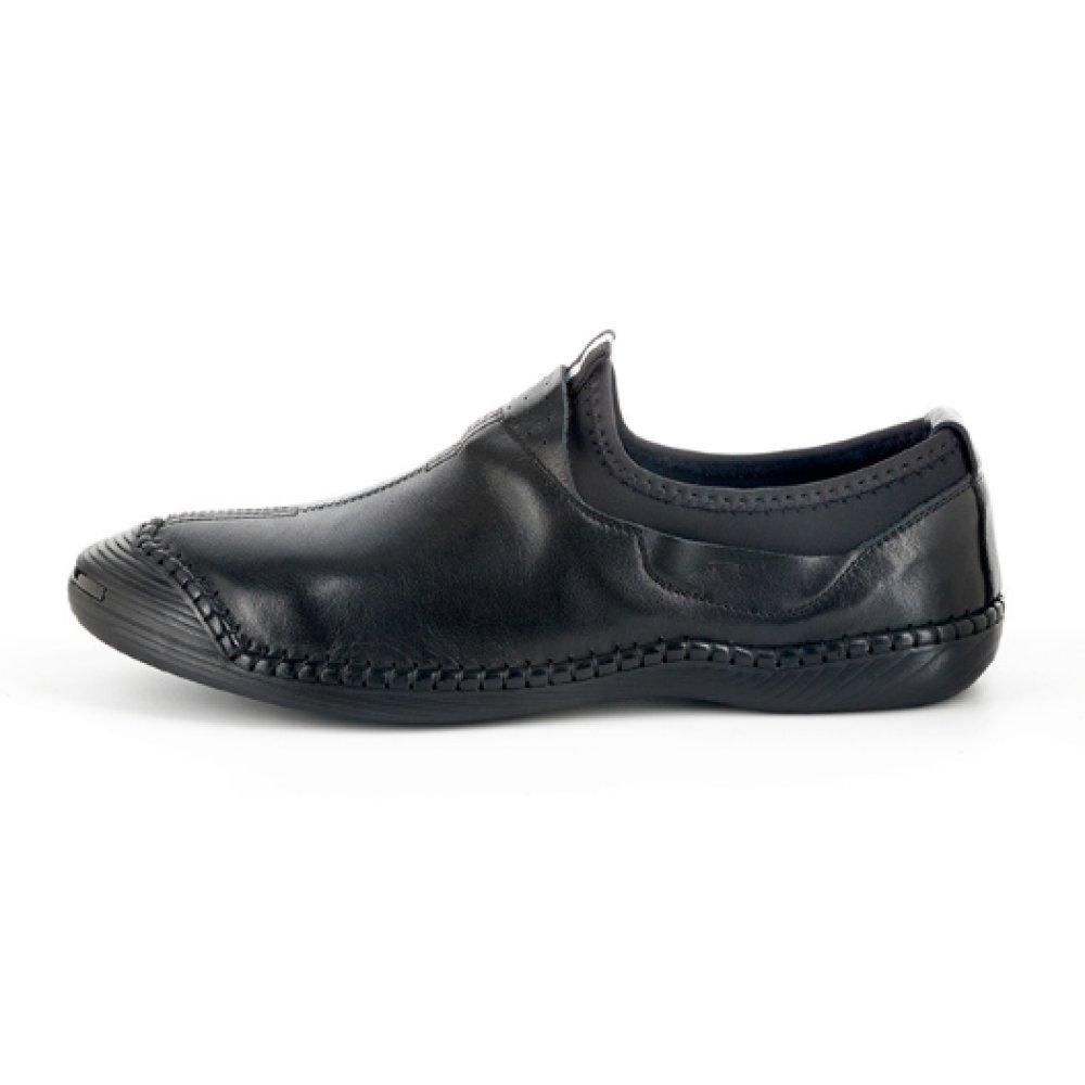 NIUMJ Männer Lederschuhe Runder Kopf Fischer Schuhe Lässig Mode Mode Leder Atmungsaktiv