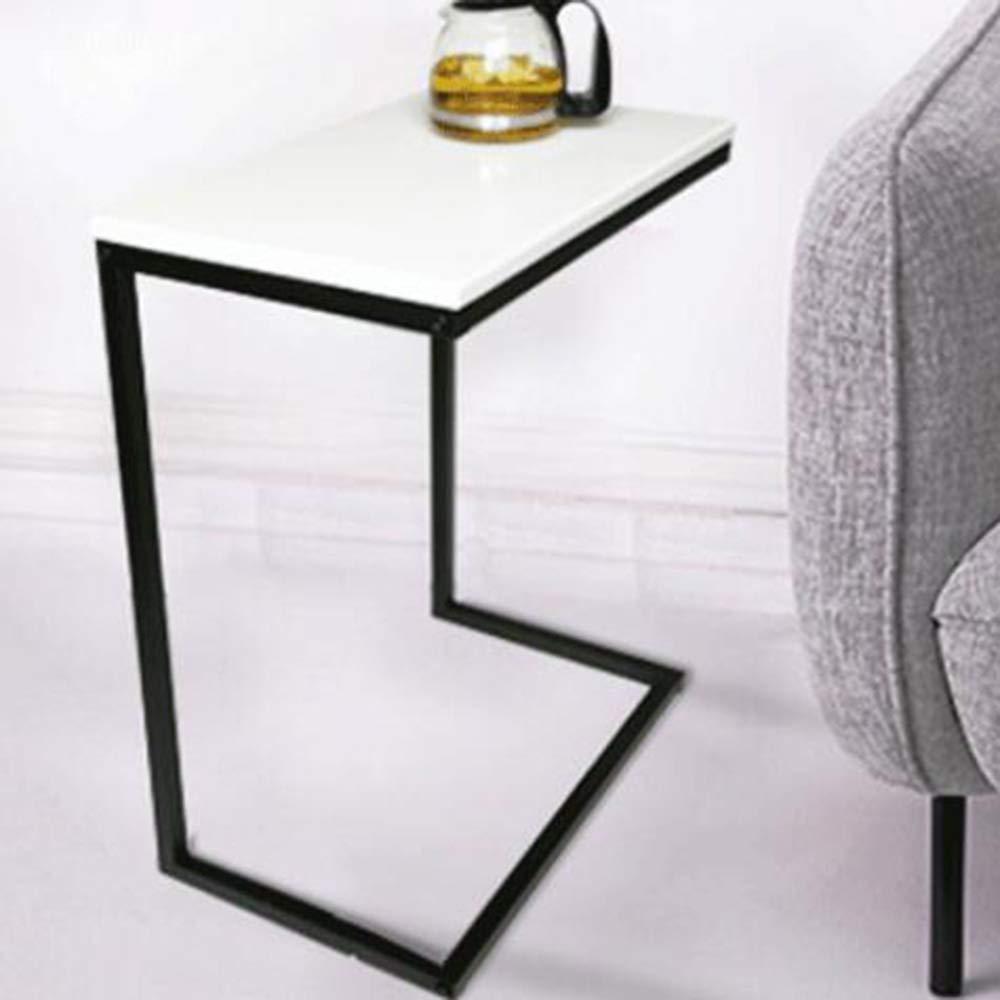 YNN ポータブルテーブル ソファーサイドエンドテーブルCテーブルスモールテーブルウッドフィニッシュスチール製コーヒースナックテーブル (色 : 04)  4 B07PJNZZ98