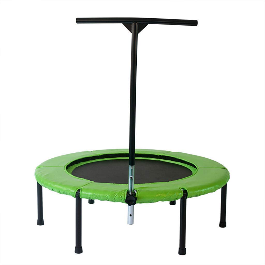 Mini 44 ' ' Fitness, Silent Mini mit Adjustable Handrail, Indoor-Rebounder für Erwachsene und Kinder, Perfect Urban Cardio Workout Home Trainer, Bungee Rope System, Max Load 260 lb