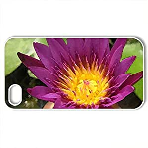 Beautiful lotus - Case Cover for iPhone 4 and 4s (Flowers Series, Watercolor style, White)