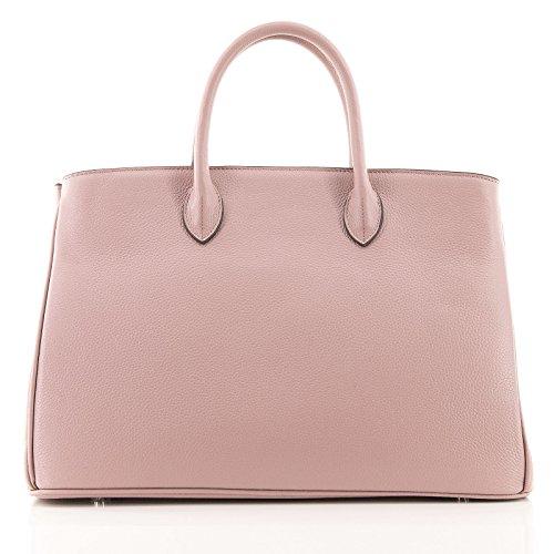 ROUVEN Poudre Mauve Pastel Violet & Silver ICONE CITY 40 Sac Tote fourre-tout sac en cuir dames Sac cartable noble chic et moderne minimaliste (40x28x19cm)
