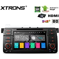 XTRONS HDMI Android 7.1 Quad Core 7 Inch HD Digital Touch Screen Car Stereo Radio DVD Player GPS for BMW E46 /320/325 Rover 75 MG ZT