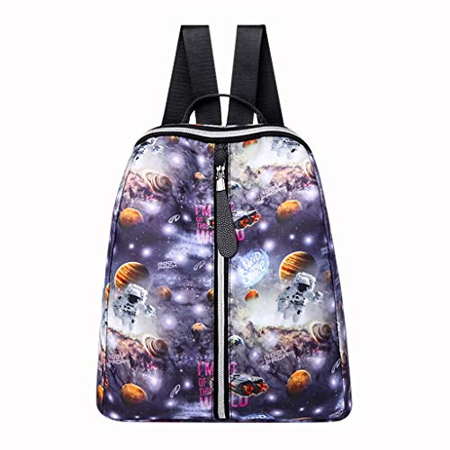 DDKK backpacks Unisex Personality Fashion Graffiti Glow School Bag-Fish Space Universe Handbag Totes Shoulder Backpacks Bags for Women-Outdoor Travel Sports Gym
