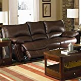 Clifford Collection Brown Leather 3PC Reclining Living Room Group!