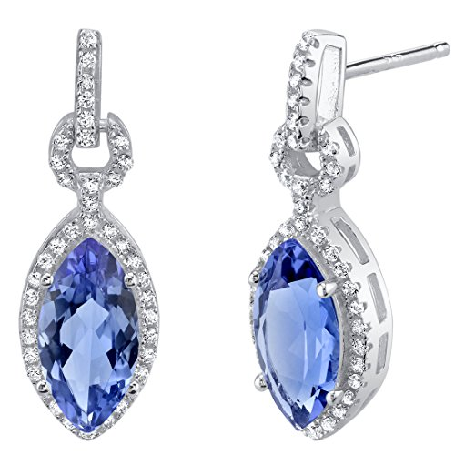 (Simulated Tanzanite Sterling Silver Marquise Royal)