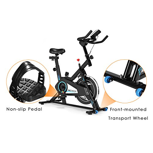 ANCHEER Indoor Cycling Bike, Smooth Quiet Belt Drive Indoor Stationary Exercise Bike (Model: ANCHEER-M6008) by ANCHEER (Image #5)