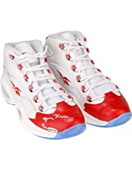 26d4eb1cfee4 Allen Iverson Philadelphia 76ers Autographed White   Red Reebok Question  Sneakers - Limited Edition of 30