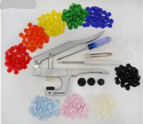 50 KAM Size T8 Plastic/Resin Snaps Buttons PLIER for Cloth Diapers/PUL/Baby Bibs 10 Color Choice