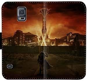 Caja del cuero de Fallout L8I6G Funda Samsung Galaxy S5 funda Caso Anb3e2 Teléfono Móvil Flip funda activo genérico