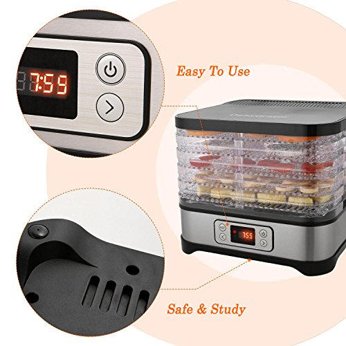 Food Multi-Tier Electric with Digital Temperature Timer for Meat Beef Fruit