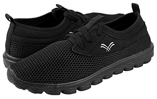 Urban Fox Herenbries Lichtgewicht Schoenen Voor Heren   Hardloopschoenen Voor Heren   Vrijetijdsschoenen   Wandelschoenen Voor Heren Zwart / Zwart