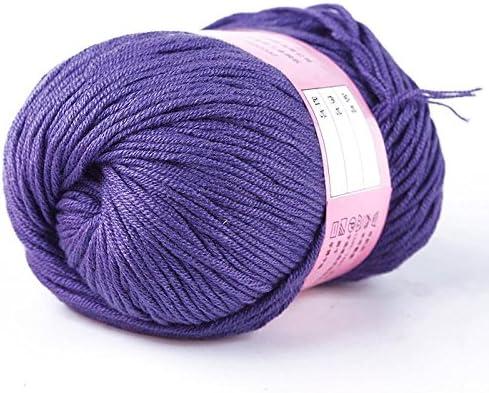 Niome - Tela de Hilo Suave para Tejer, 1 madeja, 50 g, algodón de Seda Natural: Amazon.es: Hogar