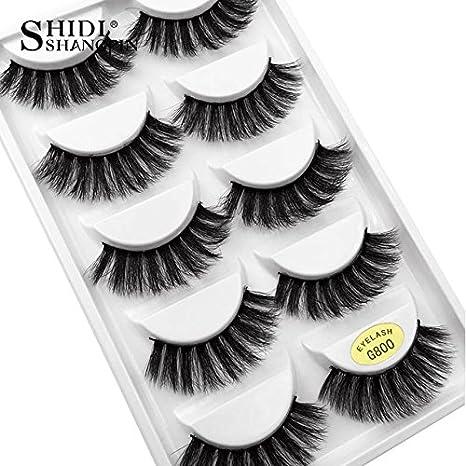 ff2b439df72 Buy Generic 800: SHIDISHANGPIN 1 box mink eyelashes natural long 3d mink  lashes hand made false lashes plastic cotton stalk makeup false eyelash  Online at ...