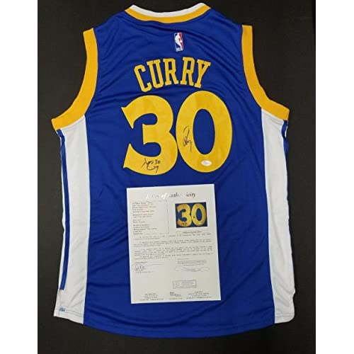 b221fdf708e1 STEPHEN CURRY   DELL CURRY Signed Golden State Warriors Jersey Size L. -  JSA Certified
