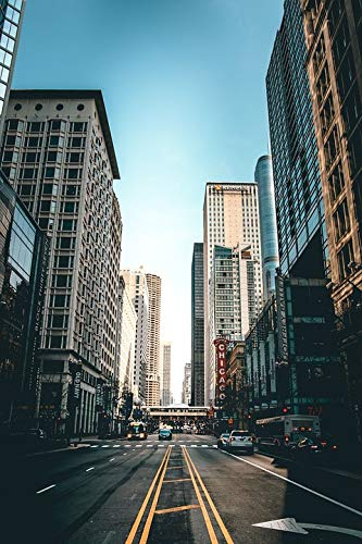 (Home Comforts Canvas Print Sky Infrastructure Building Architecture Chicago Vivid Imagery Stretched Canvas 32 x 24)
