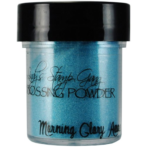 Lindy's Stamp Gang 2-Tone Embossing Powder, 0.5-Ounce Jar, Morning Glory Azure