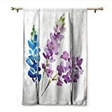 Best Eclipse Home Fashion Thermal Insulated Blackout Tie-up Window Shades - homehot Floral Tie Up Printed Blackout Curtain Branches Review