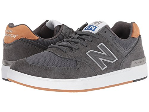 [new balance(ニューバランス)] メンズランニングシューズ?スニーカー?靴 AM574 Grey/Brown 9.5 (27.5cm) D - Medium