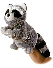 "Aurora Bandit Raccoon Plush Full Body Puppet 12"""