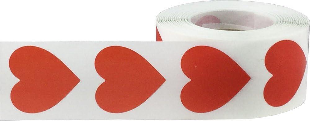 Herz-Aufkleber 2,5 cm 1 Heart Orange