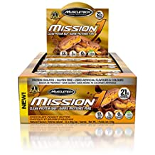 MuscleTech mission1 clean protein bar chocolate peanut butter 12 bars