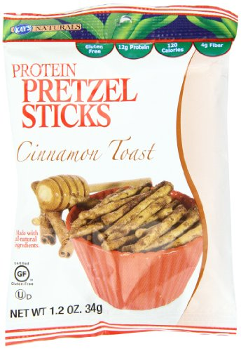 Bâtons Naturals protéines de Pretzel de Kay, Cinnamon Toast, 1,2 oz (Pack de 6)