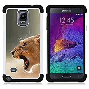 - Fierce Lion Mother Female - - Doble capa caja de la armadura Defender FOR Samsung Galaxy Note 4 SM-N910 N910 RetroCandy